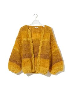 The Tweed Melange Cardigan is one of our brand new syles that combines mohair with soft merino wool and a tweed yarn. Knitwear Fashion, Sweater Fashion, Crochet Crop Top, Knit Crochet, Indie Fashion, Fashion Outfits, Cute Cardigans, Sweaters, Big Cardigan
