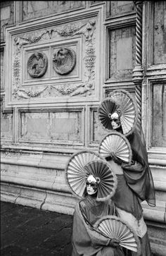 Leonard Freed     Dressed for Carnival in Front of A Church, Venice, Italy     2004