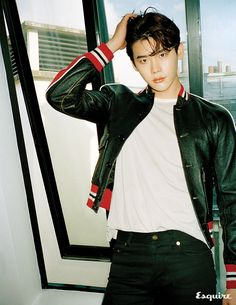 Lee Jong Suk did a pictorial and interview with Esquire for the November issue and we're wondering why he's not smiling? And what is the point of shots of his back when we prefer to see… Lee Jong Suk Hot, Lee Jung Suk, Asian Actors, Korean Actors, Korean Dramas, Yong Pal, Young Male Model, Lee Bo Young, Joo Won