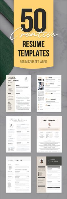 328 Best Creative and professional Resume Templates images