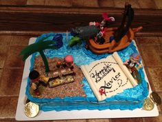 Jake and the Neverland Pirate cake my nana made for my baby cousins 3rs birthday!!