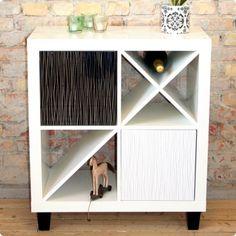 Ikea hack - Divide 4 for Expedit Shelf add feet