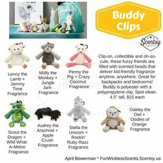 Scentsy Fall & Winter 2016 Catalog - Buddy Clips - My Custom Album for Facebook Parties - FunWicklessScents.Scentsy.us - My Watermark is on the Graphic
