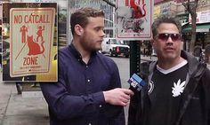 Man catcalls women during anti-catcalling interview