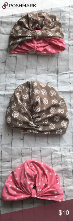 Hanna Anderson Toddler Swim Cap Turban Hanna Anderson Toddler Swim Cap Turban. Reversible with brown and white Floral or pink with white polka dots. Hanna Andersson Accessories Hats