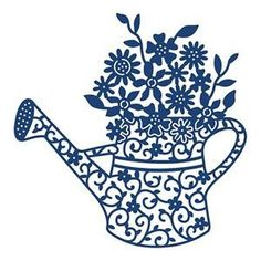 Tattered Lace Metal Die -  Floral Watering Can