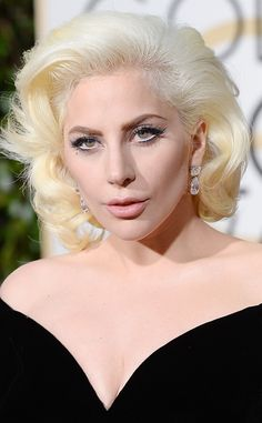 Lady Gaga Goes Old-Hollywood Glam With Her 2016 Golden Globes Makeup Look  Lady Gaga, Golden Globes Beauty