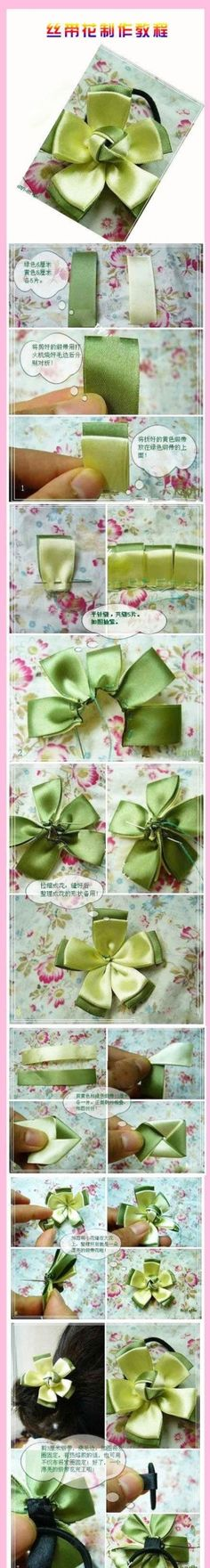 DIY Delicate Ribbon Flower by diyforever
