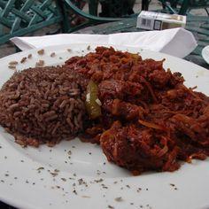 "Traditional Cuban dish ""Ropa Vieja and Congrí"""