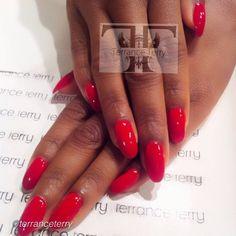 "#ShareIG by @Terrance Terry ""Nothing says "" Sexy"" like a a Classic Crimson for @LeToya Luckett thanks #terranceterry #thekingofnails #thenailgod #technique #singleladiesseason3 #almondshapenails #red #crimson #fabmanicurist #famemonster #thenailvillain  #getyourlife #gelpolish using @CND >>>Thank u!!!! I'm l❤vin my nails!! #FeliciaRed #SL3"