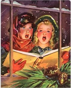 Carolers at the window