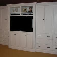 Image of: Bedroom Wall Units with Drawers and TV   Wardrobe ...