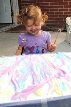 Living on Love: Sensory Kid: DIY Cool Whip Painting