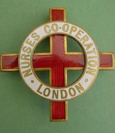 London Nurse Co-operation Badge 1913 Jamillah Hickman History Of Nursing, School Badges, Nursing Pins, Hello Nurse, Nurse Badge, Red Cross, Vintage Pins, Historical Photos, Challenge Coins