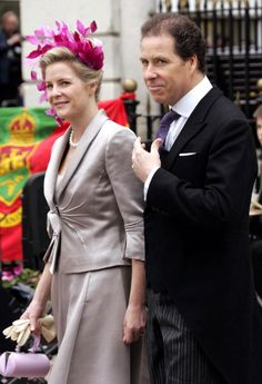 Serena and David Linley, daughter in law and son of the late Princess Margaret.