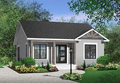 House Plan Chp 38926 At Coolhouseplans Com Cottage Style House Plans Bungalow House Plans Cottage Style Homes