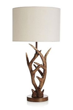 Serious rustic vibes with our neutral alter lamp! Serious rustic vibes with our neutral alter lamp! Deer Antler Lamps, Deer Antlers, Deer Lamp, Rustic Lamps, Rustic Decor, Rustic Bench, Industrial Lamps, Rustic Shelves, Rustic Theme