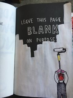 Wreck this journal - blank page