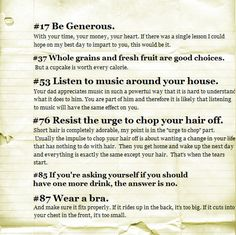 advice for your daughter (and probably son too... love #53)