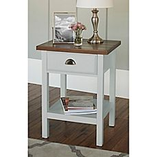image of Chatham House Newport Accent Table with Drawer in Grey