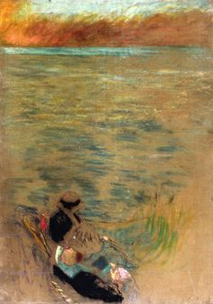 The Athenaeum - Woman by the Sea (Edouard Vuillard - )