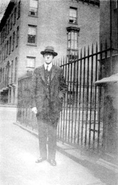 1925 – Standing in front of 169 Clinton Street, Brooklyn.