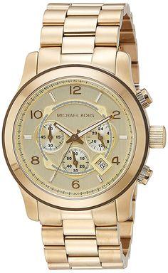 Michael Kors MK8077 - Reloj de cuarzo con correa de acero inoxidable para hombre, color dorado