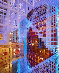 """Beyond infinity"", a multisensory installation by french artist and theorist Serge Salat, interweaves mirrors, light, music, and fractal art in an architecture that conflates visitors' perceptions of space."