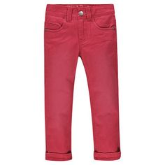 Pantalon en toile coupe slim uni   Main
