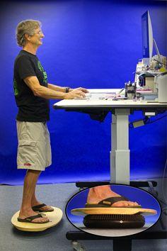 Indo Board Standup Desk (SUD) Pack - Standup Desk Cushion - Stand up desk - Indo…