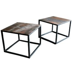 20th Century Belgian Side Tables