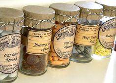 Botes inspirados en los antiguos frascos de los boticarios