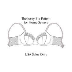 Josey Bra Pattern for USA Sales Only – La Bella Coppia Large Cup Lingerie Sewing Bras, Bra Pattern, String Bikinis, Sewing Patterns, Lingerie, Prints, Dental Floss, Underwear