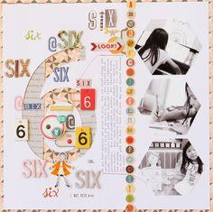 #papercraft #scrapbook #layout   October Afternoon Design Team Work