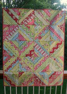 twin fibers: Darla String Quilt - finished!