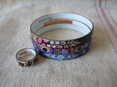 Here we offer a sweet lot of vintage enamel bracelets and a ring. 2 are marked Michaela Frey, the ring is marked made in Austria and the blue bracelet is not marked. This fun lot will be a very nice a. Bangle Bracelets, Bangles, Costume Ideas, Austria, Enamel, Illustration, Rings, Vintage, Jewelry