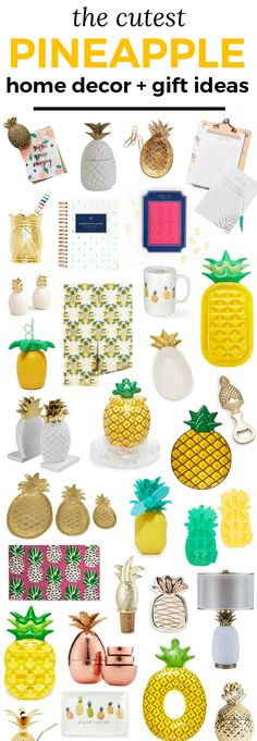 If it's shaped like a pineapple, I need it. Here's a round-up of the best pineapple home decor, office items, and gift ideas with almost everything under $50! | Affordable gift ideas for women | Birthday gifts | Summer party ideas | Pineapples | Pool party