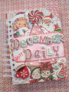 Two Crazy Crafters: December Daily Tutorial - Part 1 Christmas Mini Albums, Christmas Journal, Christmas Scrapbook, Christmas Minis, Christmas Paper, Vintage Christmas, Christmas Ideas, Christmas Planning, Scrapbooking Album