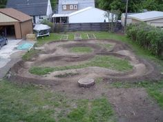 Backyard Pumptrack back yard pump track: | cycle your life away | pinterest | track