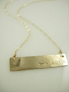 arrow necklace - handstamped