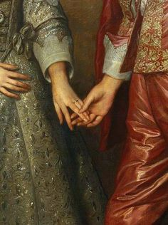 Portrait of William of Orange as a prince and his future bride Mary Stuart (detail) 17th century, Anthony van Dyck.