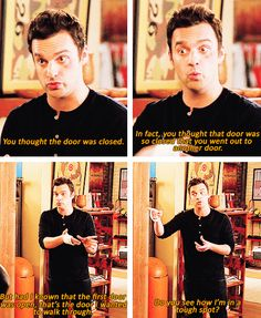 Nick and Jess on New Girl New Girl Nick And Jess, New Girl Funny, Cotton Eyed Joe, Jessica Day, Finding Carter, Famous Movie Quotes, Nick Miller, Zooey Deschanel, Hey Girl