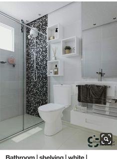 Best Ideas For Apartment Bathroom Design Decor Toilets Apartment Bathroom Design, Bathroom Design Small, Bathroom Interior Design, Toilet Shelves, Shower Shelves, Glass Shelves, Bathroom Shelf Decor, Bathroom Furniture, Bathroom Ideas