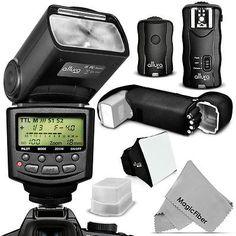 Altura Photo i-TTL Auto Focus Flash Kit for Nikon D5500 D5300 D5200 D3300 D3200
