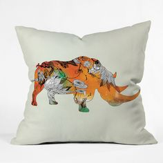 Found it at AllModern - Iveta Abolina Rhino Throw Pillow