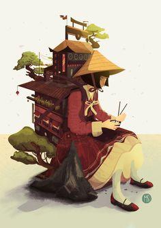 Primera ilustración serie  Mochilas de Mundo Sucedáneo, como se hizo. Fictional Characters, Art, World, Backpacks, Sketches, Illustrations, Drawings, Art Background, Kunst
