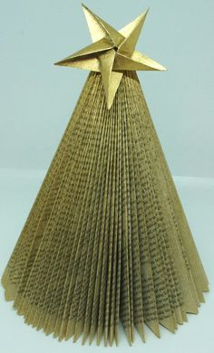 Folded Book Christmas Tree - How to Make ~ Christine's Crafts