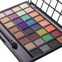 DE'LANCI Professional 32 Color Eyeshadow Makeup Palette Set Waterproof Makeup Eyeshadow Kit with Mirror Dual Ended Eyeshadow Make Up Brush Tool - Gift Set (32 Color A) *** More info could be found at the image url.