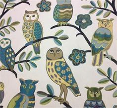 Owl Fabric - PERFECT - Origami Owl Independent Designer Supplies Website - this site is amazing! Fabric Websites, Owl Fabric, Origami Owl, Outdoor Fabric, Slipcovers, Upholstery, Kids Rugs, Sewing, Artist