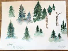 Watercolor Trees Part 2